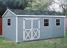 10' x 20' Gable Style Storage Shed Plans / Building Blueprints & Guides # E1020