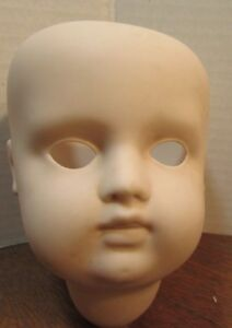 """VINTAGE   BISQUE DOLL HEAD BODY PARTS 5"""" TALL CLAUDETTE III 16MM"""