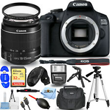 Canon EOS 2000D / Rebel T7 with 18-55mm IS II Lens + 32GB + Flash + UV Bundle