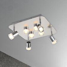 WOFI lámpara LED de techo Antibes 8-flg CROMADO CONTROL REMOTO 32 vatios 3200