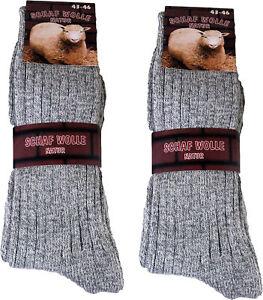 12 Paar Herren Norweger Socken Norwegersocken schön warm -  grau SP