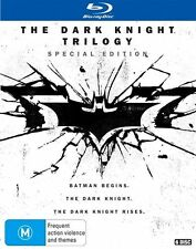 The Dark Knight Trilogy (Blu-ray, 2016, 6-Disc Set) New, ExRetail Stock (D138)