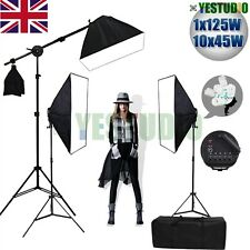 2875W Photo Studio Continuous Softbox Lighting Soft Box Boom Arm Light Stand Kit
