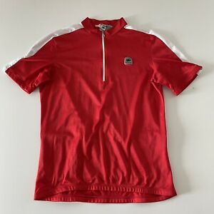 Suggi 1/4 Zip Short Sleeve Cycling Jersey Men's 2XL Red 100% Polyester