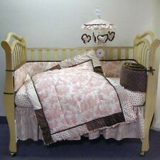 WAVERLY BABY  TOILE DIAPER STACKER  Pink IVORYBrown