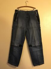 marithe francois girbaud Baggy Srap Denim Jeans Size 38/33
