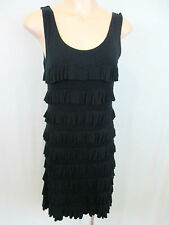 Charlie Brown Size 10 Black Tiered Dress
