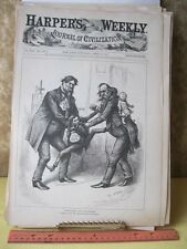 Vintage Print,HAIR SPLITTING,Thomas Nast,Harpers,April 1881