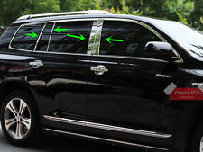Stainless Steel Window Pillar Posts Trim For Toyota Highlander 2008-2010