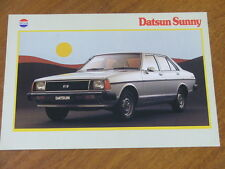 1980 Datsun Sunny original Australian 6 sided foldout brochure