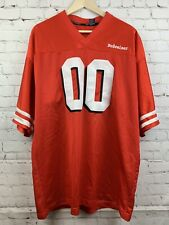 Men's Vintage Budweiser Beer Football Jersey Xl Red #00 Short Sleeve Jersey M0