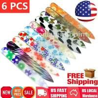 6PCS/Set MINI PROFESSIONAL CRYSTAL GLASS NAIL FILE MANICURE TOOLS Random Color