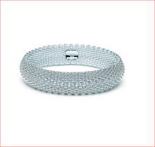 Tiffany & Co Somerset Mesh Bangle Bracelet Sterling Silver - Retired