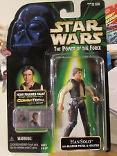 Star Wars The Power of the Force Han Solo w/Blaster Pistol & Holster