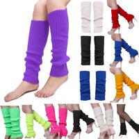 Womens Winter Leg Warmers Long Cuffs Crochet Over Knee Ankle Leggings Socks Boot