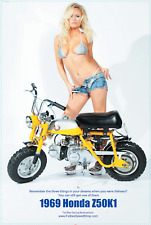Honda Z50 Poster with HOT Model - Black Friday SALE STARTS MONDAY 11/20
