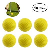 18pcs PU Foam Elastic Golf Sponge Balls Indoor Outdoor Practice Training Durable