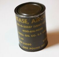 1 Can Vtg WWII Military Aircraft Grease Feb 60 Mil-G-25537 USAF Shell Oil NEW