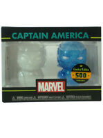 Funko Hikari XS Captain America Figure Set Blue & White Marvel Limited 500