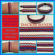 Hand Made 2mm Paracord Reversible Bracelets Wristbands 10% to Help For Heroes