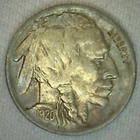 1920 US Buffalo Five 5 Cent Coin Copper Nickel Extra Fine