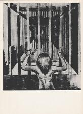 LEA GRUNDIG - CAPTURED IN PRISON * EAST GERMAN SMALL ww2 ART PRINT 1975