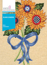 Anita Goodesign Sunflowers Embroidery Machine Designs CD