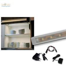 4er Set LED Alu-Lichtleiste Superflach kalt-weiß Küchenleuchte Möbelbeleuchtung