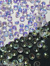 Sequins 5mm Diamond Iris Bowl Cup Crystal White AB Iris Rainbow Unique Exclusive