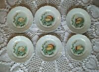 6 Assiettes FROMAGE Porcelaine LIERRE SAUVAGE CNP LIMOGES FRENCH OLD PLATES