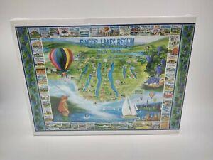 Finger Lakes Region New York 24 x 30 puzzle 1000 pieces White Mountain NEW