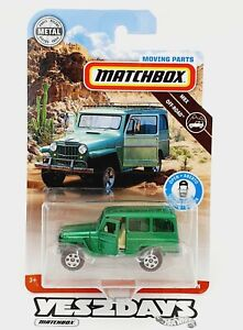 2020 Matchbox : '62 JEEP WILLYS WAGON  : MOVING PARTS FWD35 : VHTF New Sealed