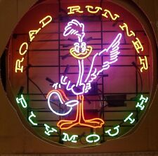 """24""""X24"""" Road Runner Plymouth Car Dealer Real Neon Sign Beer Light [Fast Ship]"""