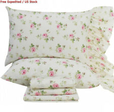 Queen's House Rose Floral Pillowcases Shams Queen Set of 2, Twin/Full/Queen,...