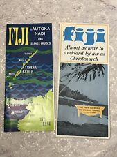 Vintage Ephemera - Travel Guide Brochure FIJI Lautoke Nadi & Islands x 2 1960s