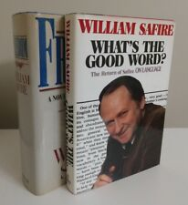 2x William Safire SIGNED books first ed. Association copies to his brother Lem