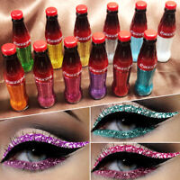 CmaaDu Cola Bottle Glitter Liquid Eyeliner Waterproof Shimmer Colored Makeup NEW
