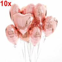 """10x  18"""" Liebe Herz Folie Helium Ballons Mylar Ballon Hochzeit Geburtstag Party"""