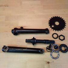 HARO 78 Bmx Crankset 175mm w/ Hardware, BB, Chainring Black Q3