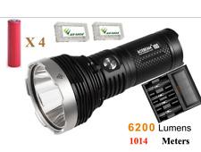 Acebeam K65 XHP70.2 LED 6200L 1014M Flashlight w/ 4x3500mAh 18650 & A4 Charger