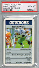 RANDY WHITE HOF 1987 Ace Fact Pack Dallas Cowboys PSA 10 Pop GEM MINT Pop 3