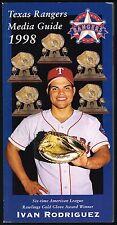 1998 Texas Rangers Media Guide