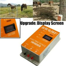 220V Solar Electric Fence Energizer Charger Screen Animals Poultry Controller