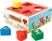 Peanuts Steckwürfel Holz Formen Steckspiel Snoopy Kinder Spielzeug small foot