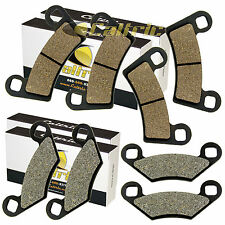 FRONT and REAR BRAKE PADS FIT POLARIS RZR 800 EFI 2008-2014