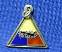 WWII Sterling Armored Division DI Unit Home Front Sweetheart Pendant