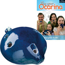 Langley Ceramic BASS OCARINA with Play Your Ocarina COMPLETE books 1-4