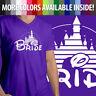 Bride Disney Wedding Marriage Honeymoon Disneyland Walt Unisex V-Neck T-Shirt