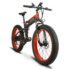 Cyrusher Folding eBike Electric Mountain Bike 500W*48V Double Suspension Red