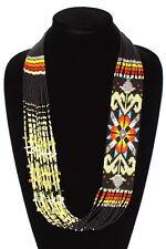 NE149-200 Art Glass Crystal Beads Star Story Southwest Necklace Handmade Jewelry